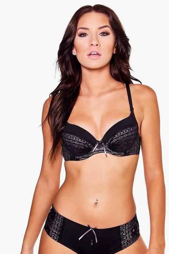 Bethany Lace Contrast Underwired Bra
