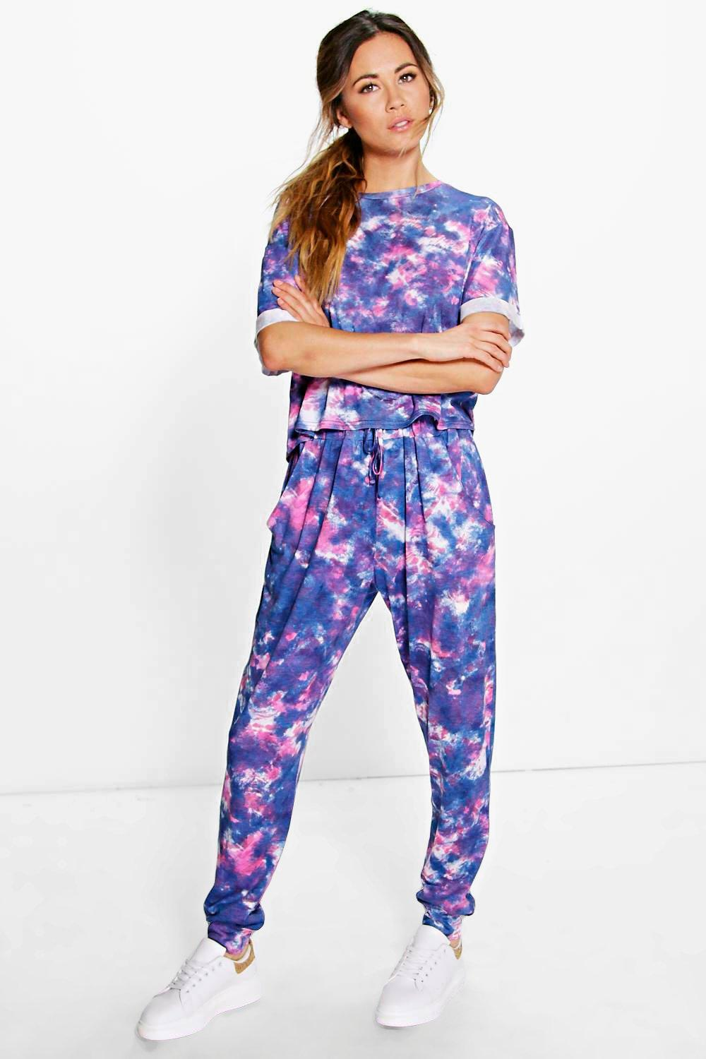 Holly Tie Dye Tee And Jogger Lounge Set