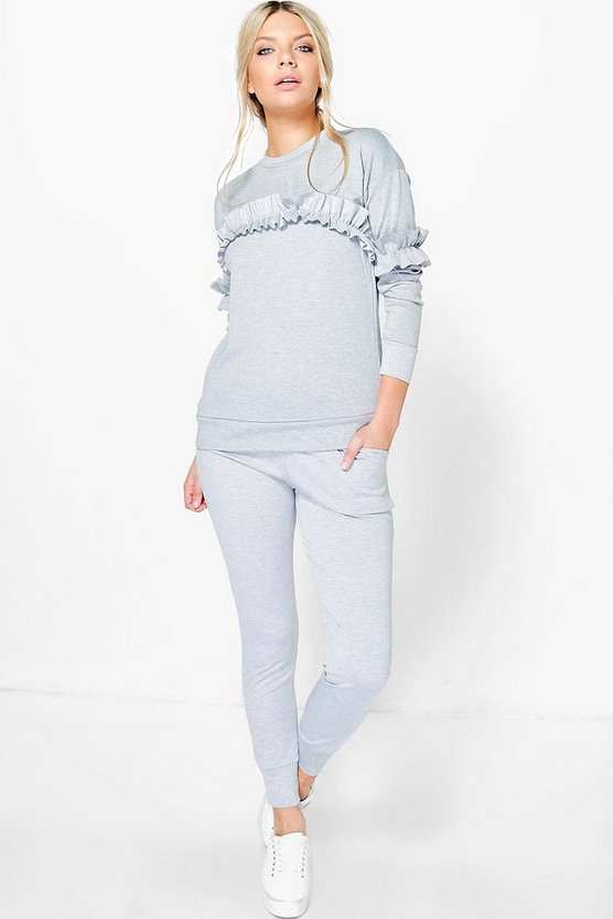 Lena Frill Jumper Loungewear Set