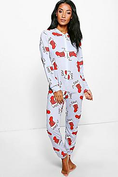 Lilly Christmas Stocking Print Onesie