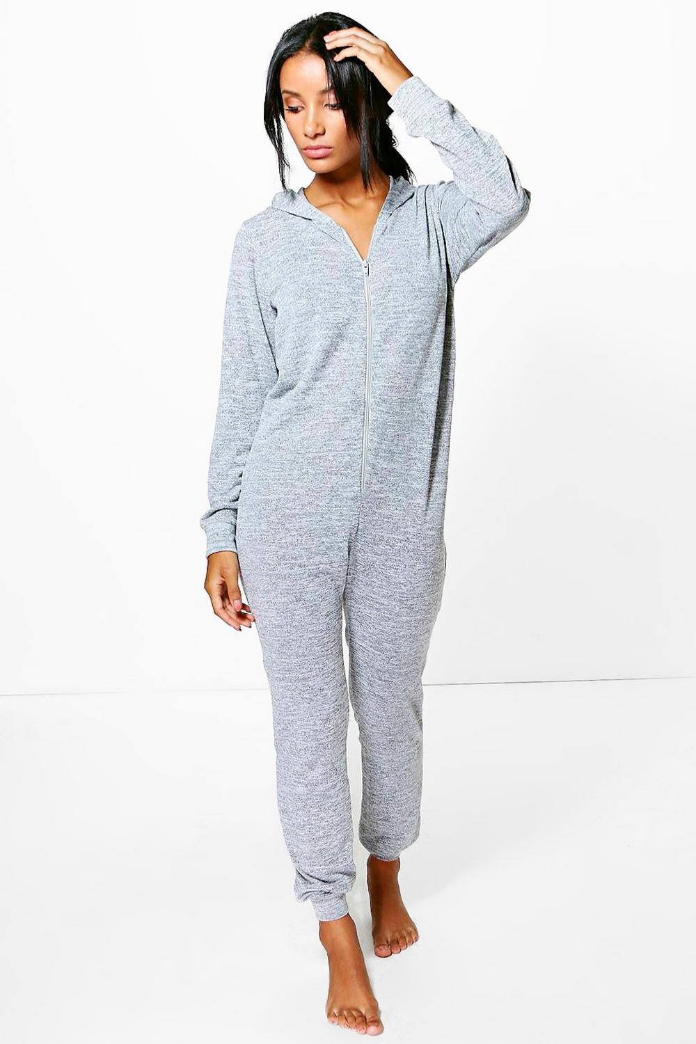 Freya Knitted Zip Front Hooded Onesie