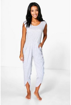 Molly Lotus Leg Hem Lounge Jumpsuit