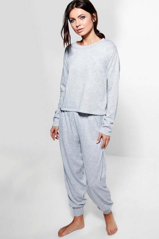 Ava Long Sleeve Sweater And Hareem Loung Set