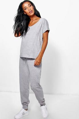 Heidi Over Sized Tee And Jogger Lounge Set