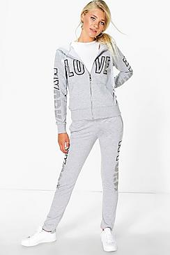 Jasmine Diamante Love Tracksuit