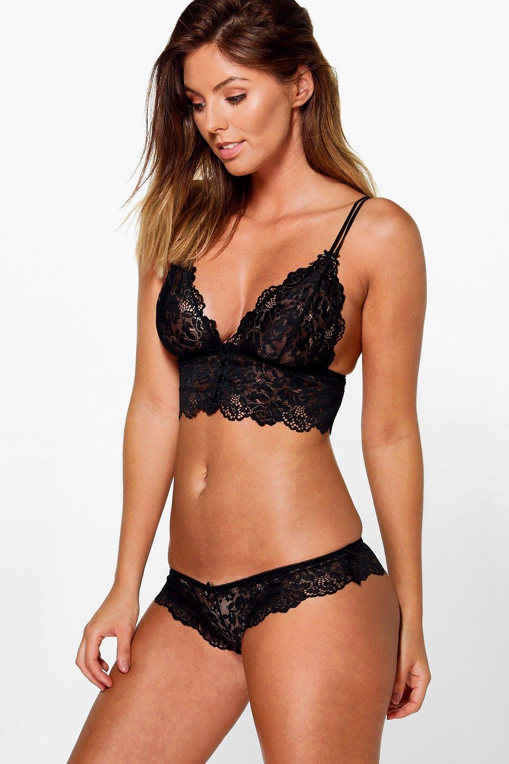 Sophia Black Pretty Lace French Knicker