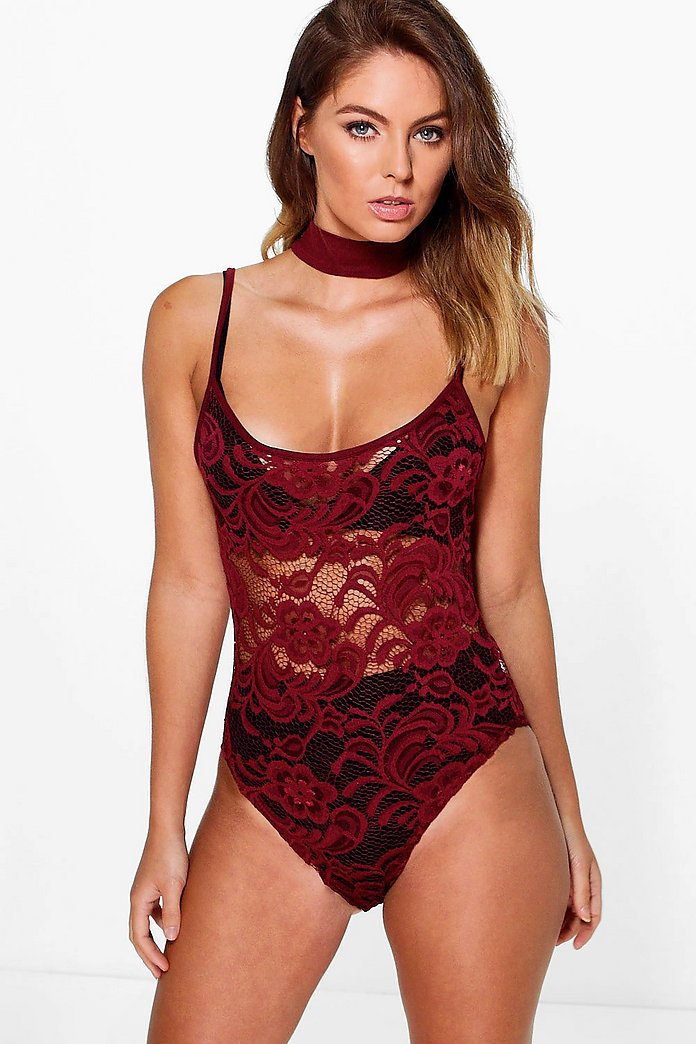 Willow Strap Chocker Detail Lace Body