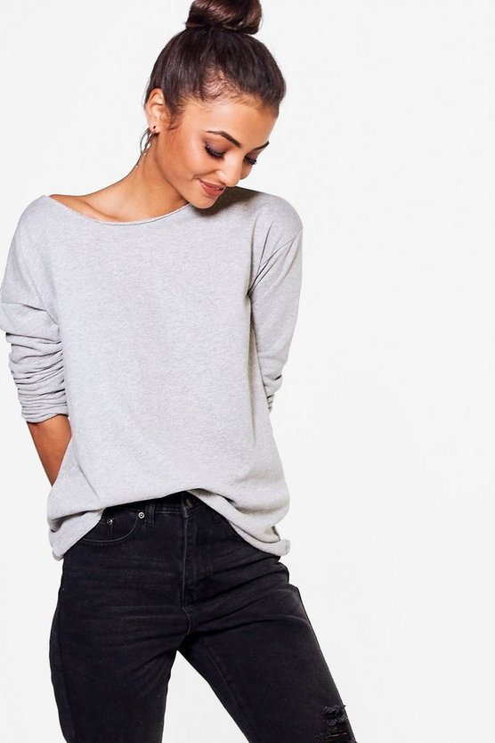 Millie Marl Raw Edge Sweat Top
