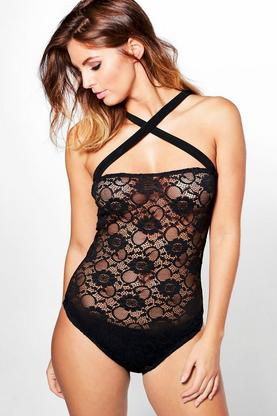 Sophia Cross Strap Lace Body
