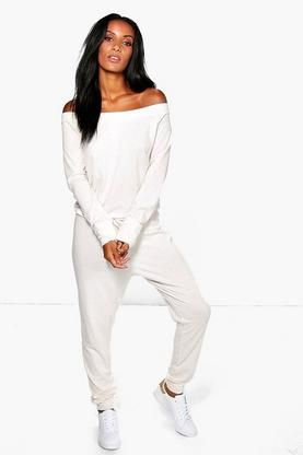 Hannah Nep Yarn Slash Lounge Jumpsuit