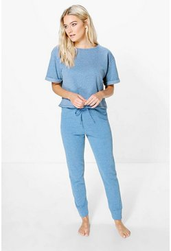 Kayla Loop Back Lounge Tshirt + Jogger Set