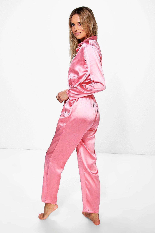 New  WomensFootedOnesieHoodedJumpsuitWinterPajamasMediumSleepwear