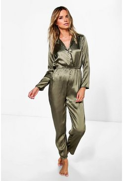Alice Satin Lounge Jumpsuit