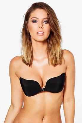 Amber Stick On Plunge Clasp Front Bra