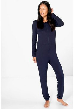 Faye Plain Zip Through Onesie