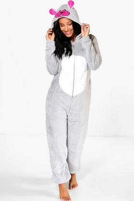Annabel Mouse Hooded Fleece Onesie