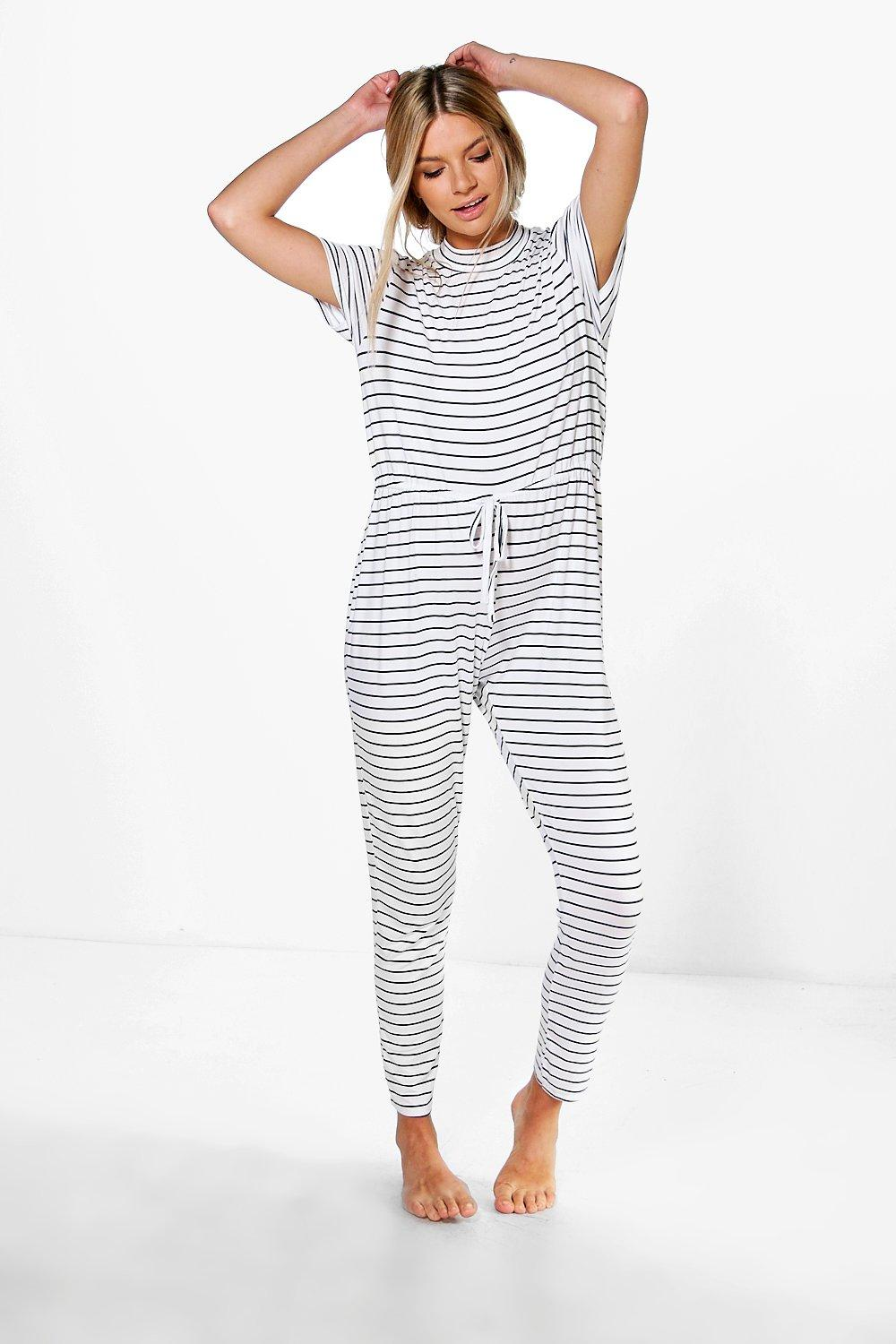 Georgia Stripe Tie Cord Lounge Jumpsuit