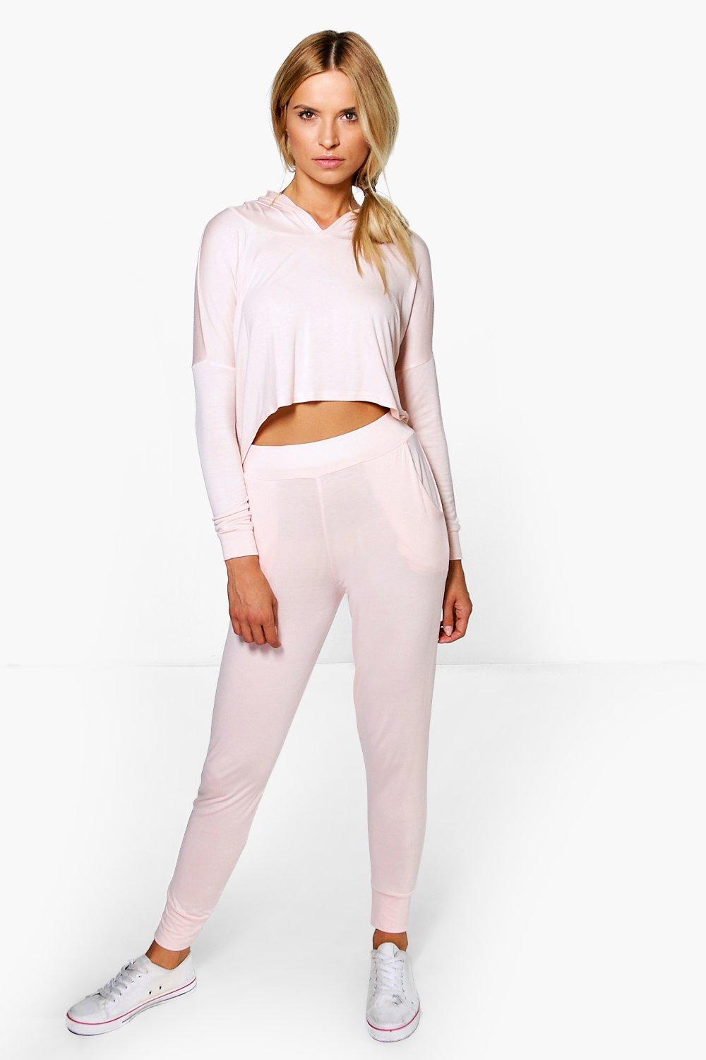 Gabriella Dip Hem Hooded Jogger Lounge Set