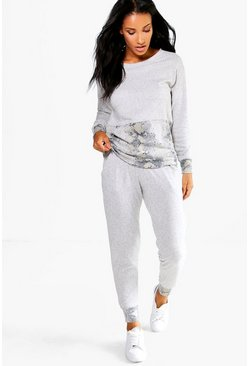 Tilly Snake Print Contrast Pocket Lounge Set