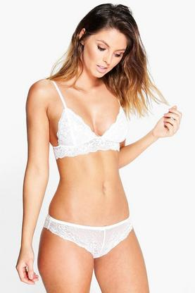 Julia White Lace French Knicker