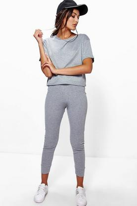 Amy Ribbed Crop + Legging Loungewear Set