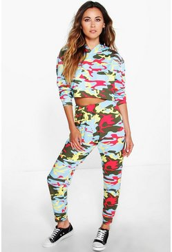 Julia Lightweight Camo Crop + Jogger Lounge Set