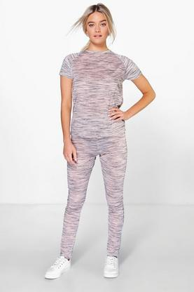 Bella Baseball Tee And Legging Lounge Set