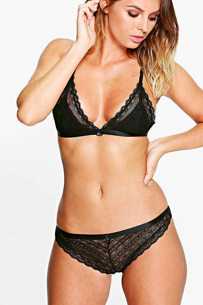 Ivy Linear Lace Brazillian Brief