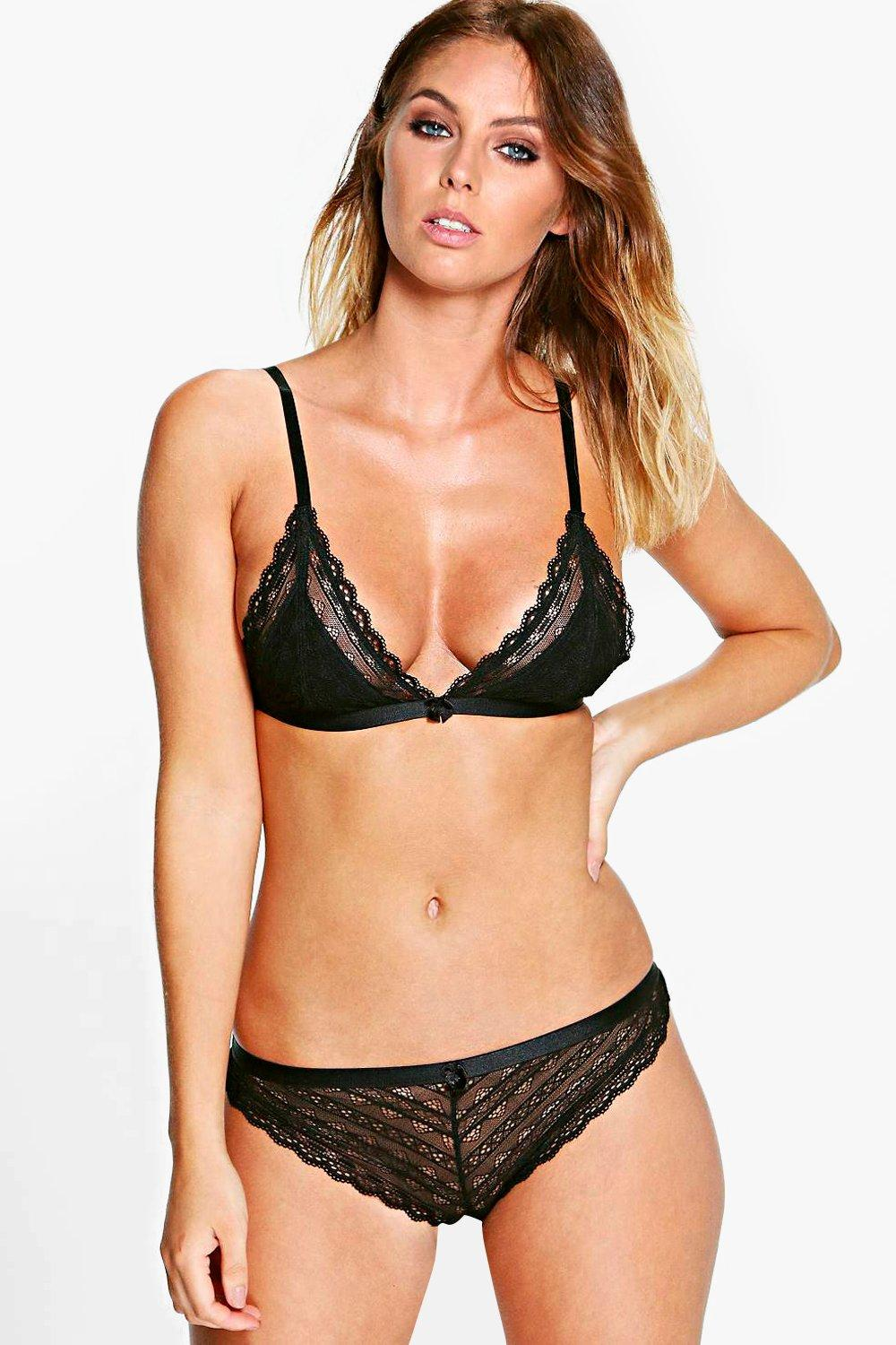 Alicia Linear Lace Triangle Bralet