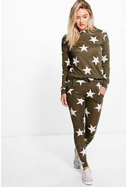Millie Star Print Knitted Lounge Set