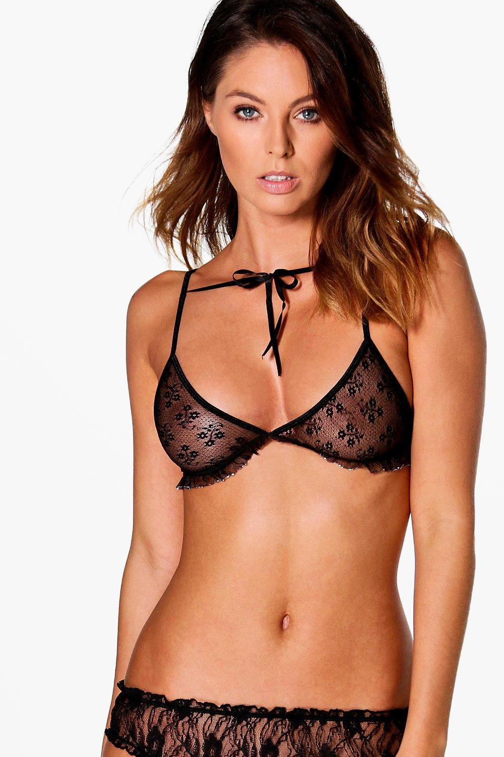 Ella Ribbon Tie Soft Triangle Bralet