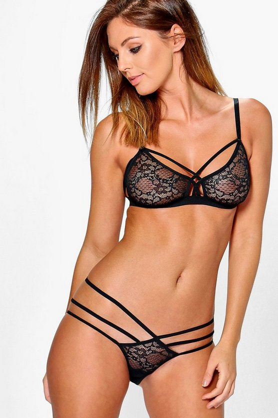 Faith Multi Strap Lace Brief