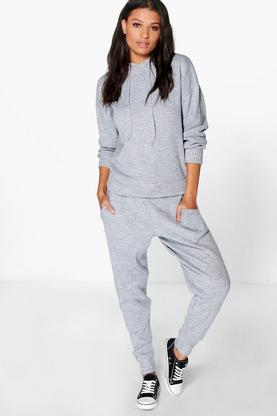Zoe Hooded Knit Jogger Lounge Set