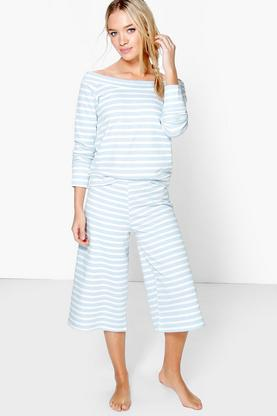 Brooke Bardot Lounge Top And Culotte Trouser Set