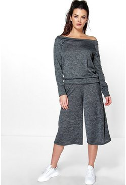 Amy Bardot Lounge Top And Culotte Trouser
