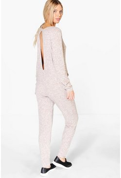 Holly Open Back Pocket Lounge Jumpsuit