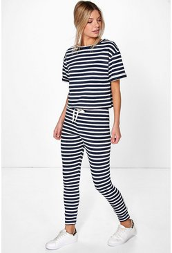 Faye Stripe Oversized Lounge Set