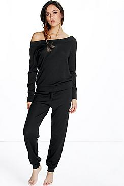 Cara Bardot Top And Trouser Loungewear Set