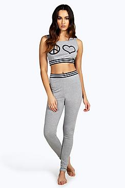 Lyla Crop Top And Legging Lounge Set