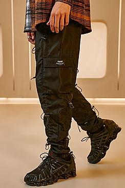 Man Loose Fit All Over Toggle Cargo Trousers