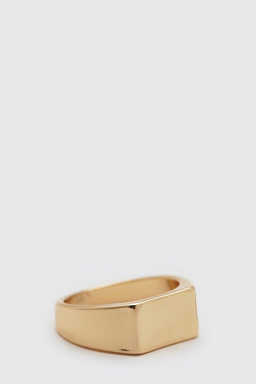 Bague à sceau Homme - gold - ONE SIZE, gold