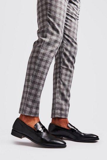 Brown Metallic Detail Saddle Loafer