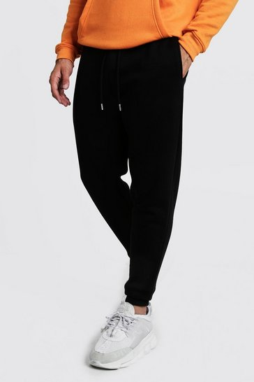 Black Basic Skinny Fit Fleece Jogger