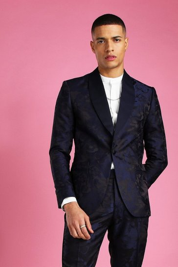 Black Shawl Satin Collar Belted Suit Jacket