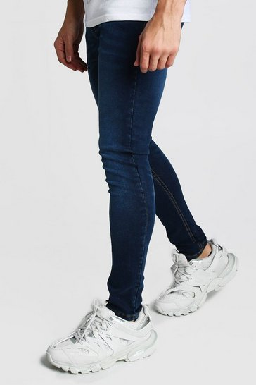 Washed indigo Super Skinny Jeans
