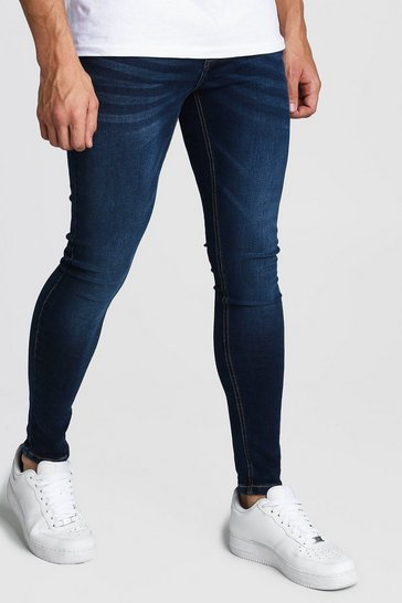Washed indigo Spray On Skinny Jeans