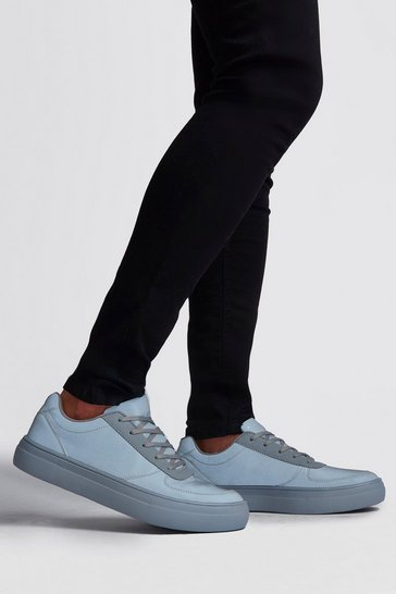 Grey Full Reflective Lace Up Trainer