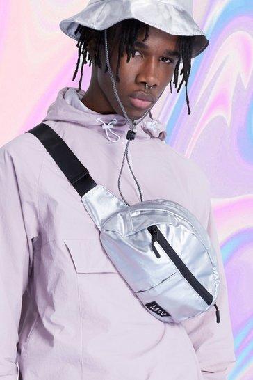 Silver Coated MAN Tab Bum Bag