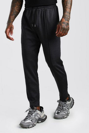 Black Smart Jogger Trouser With Pin Tuck