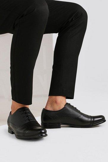 Black Texture Detail Toe Cap Formals